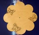 Циферблат Цветок с бабочками д.24 см.